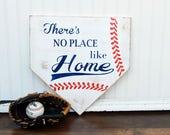 Baseball sign, Baseball door hanger, Rustic Summer Sign, Front Porch Sign, No place like home