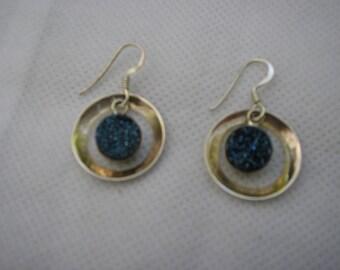 sterling druzy titanium earrings