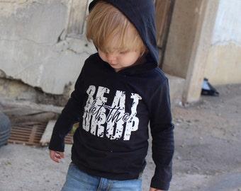 Urban Baby Clothes, Fall Toddler Clothes, Hipster Baby Boy Clothes, Fall Kid Clothes, Long Sleeve Hoodie Shirt, Music Shirt, Beat Drop