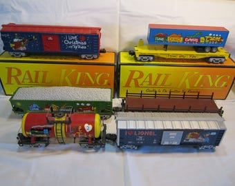 "Lot Of Lionel & MTH Electric Toy Trains ""O"" Scale Some In Boxes Tanker Hopper Boxcar Truck Trailer Car"