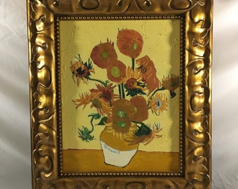 Vase with Fifteen Sunflowers Van Gogh oil on canvas painting original reproduction post Impressionism Artwork with Oil