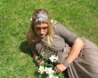 "Fairy Crown-Twig and Gems- ""Go Glam''"