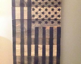 Custom Handmade Wooden American Flag