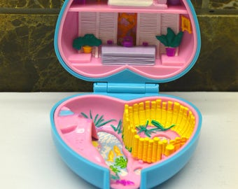Vintage Bluebird Polly Pocket 1993 Polly's Pretty Panda, Furry Pets Collection, Pet Parade Compact Dolls included