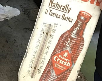 1940s Vintage Orange Crush thermometer