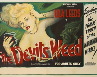 drug cult film poster The Devil's Weed repro print