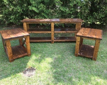 Farmhouse Rustic End Tables--Custom