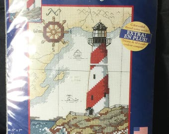 creative accents Nautical Light counted cross stitch
