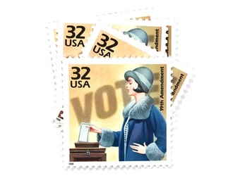 1 x Vote 19th Amendment 32 cents UNused 1998 US Postage Stamp - 1920s - Celebrate the Century - Woman - Women - Suffrage