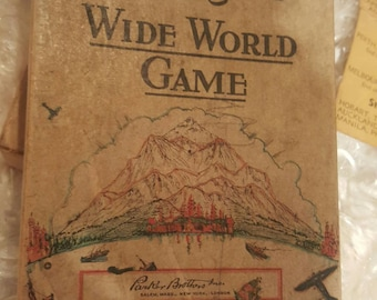 WIDE WORLD GAME 1933 By Hendrik Willem Van Loon-- Parker Brothers Inc