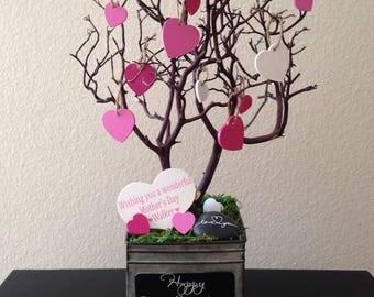 Custom manzanita love heart tree