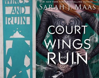 Bookmark - A court of wings and ruin - with personalization