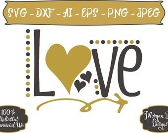 Valentine SVG - Love SVG - Wedding SVG - Arrow svg - Cupid svg - Heart svg - Files for Silhouette Studio/Cricut Design Space