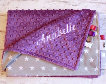 Personalised Baby Blanket - Choice of colours - Custom made minky baby - Blanket/cotbed blanket. Play mat - Baby gift