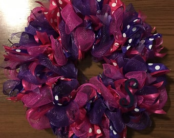 """Colorful 12"""" Wreaths"""