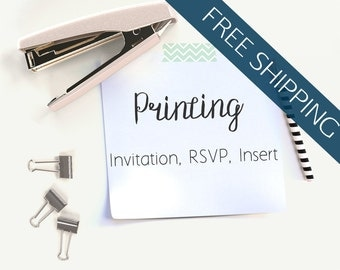 Invitation Printing // Invitations, RSVP Postcards, and Insert Cards