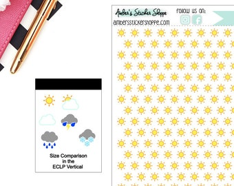 Sun Sunny Weather Planner Stickers