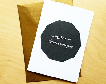 Merci Beaucoup - Thank You card in French