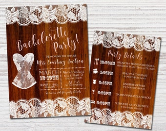 BACHELORETTE PARTY INVITE | Lingerie Party Invitation