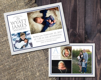 BABY ANNOUNCEMENT CARDS - Printed Listing | New Baby Cards | Custom Photo Cards