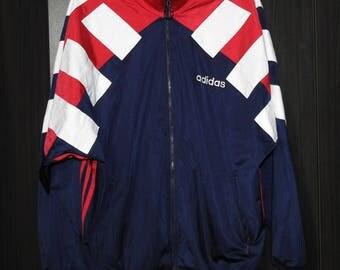 Vintage Adidas Track Jacket 1990s Retro Festival Size (XL-XXL) 198 D9 46/48