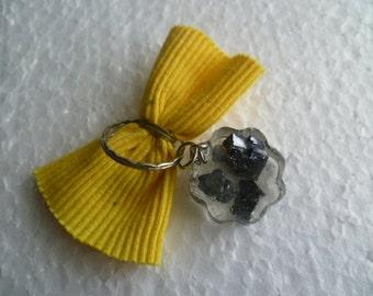 """Minerals keychain, stone keychain saved in resine, gift idea, 1.5"""", mix minerals,"""