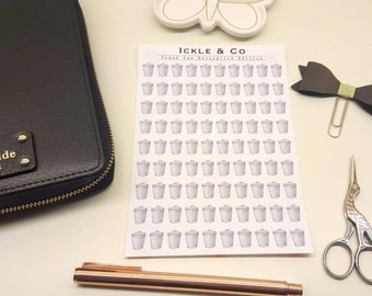 GLOSSY / PREMIUM MATTE  Bin Day / Trash Can Chore / Cleaning Planner Stickers Decorative Edition
