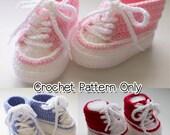 Crochet Baby High Top Bootie Pattern