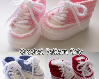 Crochet Baby High Top Bootie Pattern