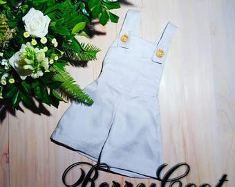 Linen overalls - page boy overalls - linen kids clothes - boys christening - toddler formal wear
