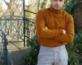 Man retro Turtleneck Sweater