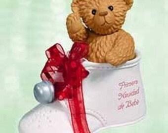 2003 Hallmark Ornament Primera Navidad De Bebe Porcelain