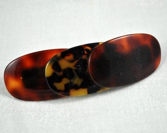 French Faux tortoise shell barette