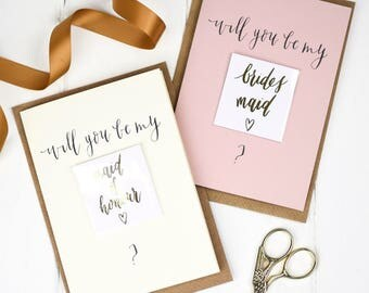 Be my Bridesmaid card with gold tattoo