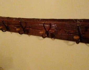 Coat Rack from Reclaimed barn siding