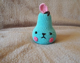 Small crochet pear. AMIGURUMI