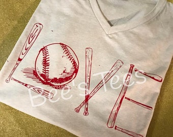 I love Baseball shirt, Baseball Shirt, Softball Shirt, Softball Mom shirt, #fortheloveofthegame, custom options available