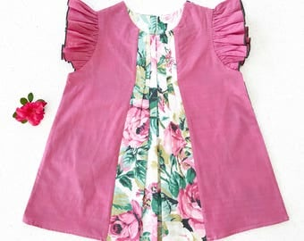 Pleat Play Dress for Girls