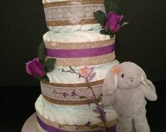 Bunny Love Diaper Cake