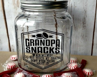 Funny Gift for Him, Gift for Grandpa, Funny Gift for Husband, Father's Day Gift, Funny Birthday Gift for Him, Snack Jar