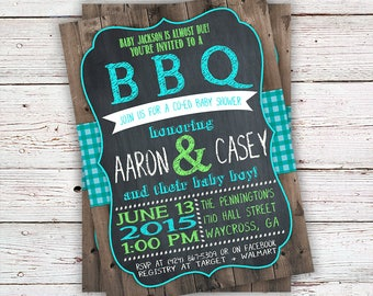 bbq invitation bbq baby shower invitation bbq invite babyq shower custom
