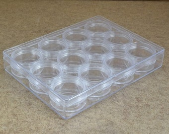 Plastic Storage organizer Container Box Case, 12 Compartments for Beads/Charms/Beads 4.5x6.5x1 Inches, 160x120x23mm
