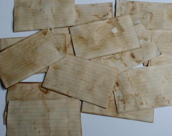 Coffee Stained Index Cards