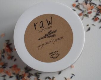 Raw | peppermint lavender | Salt Scrub *Natural Ingredients & Gluten Free