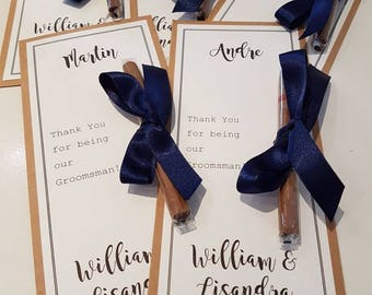 Personalised Cigar Card Gift , Rustic Wedding, Groomsmen Gift ,Best Man Gift, Will you be my?, Thank You Gift, Fathers Day, Dad gift
