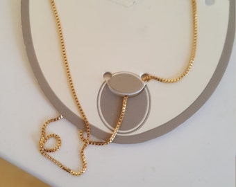 10k over sterling silver necklace. 20 inches long