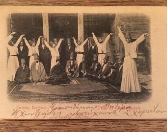 Antique Carte Postale 1900s Derviches Tourneurs Rare