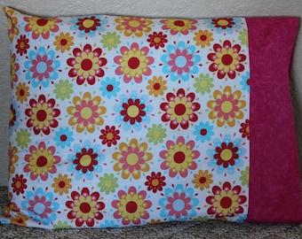 Girl's Flowered Pillow Cases