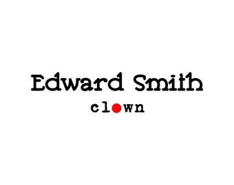 Premade Logo, Black and White Logo, Small Business Logo, Minimalistic Logo, Clown Logo