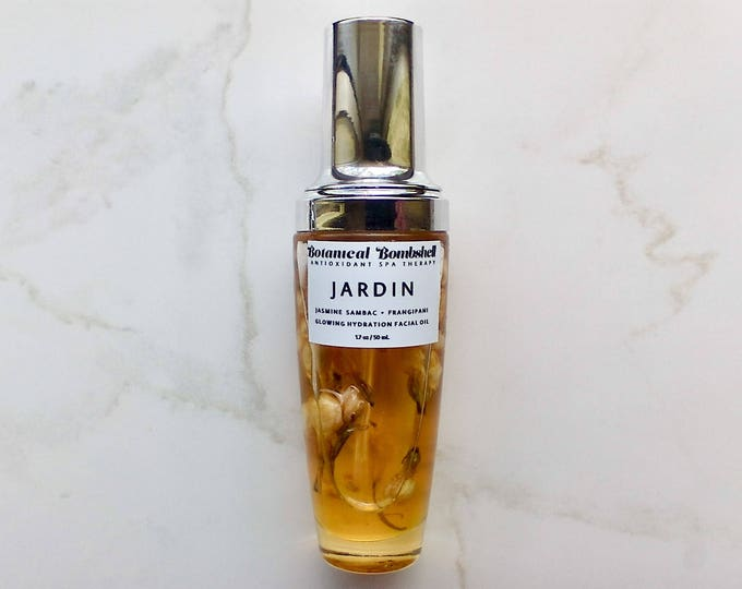 Jardin Jasmine & Plumeria Super Fruit Glow Serum Facial Oil with Goji,Mangosteen,Sea Buckthorn,Papaya,Watermelon,Baobab,Marula,Macadamia Nut